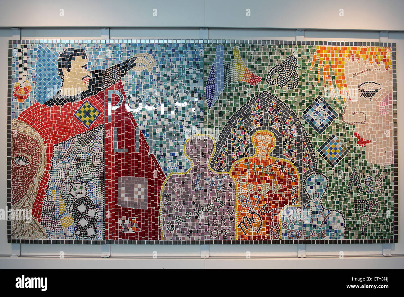Museum Of Liverpool Mosaic - Stock Image