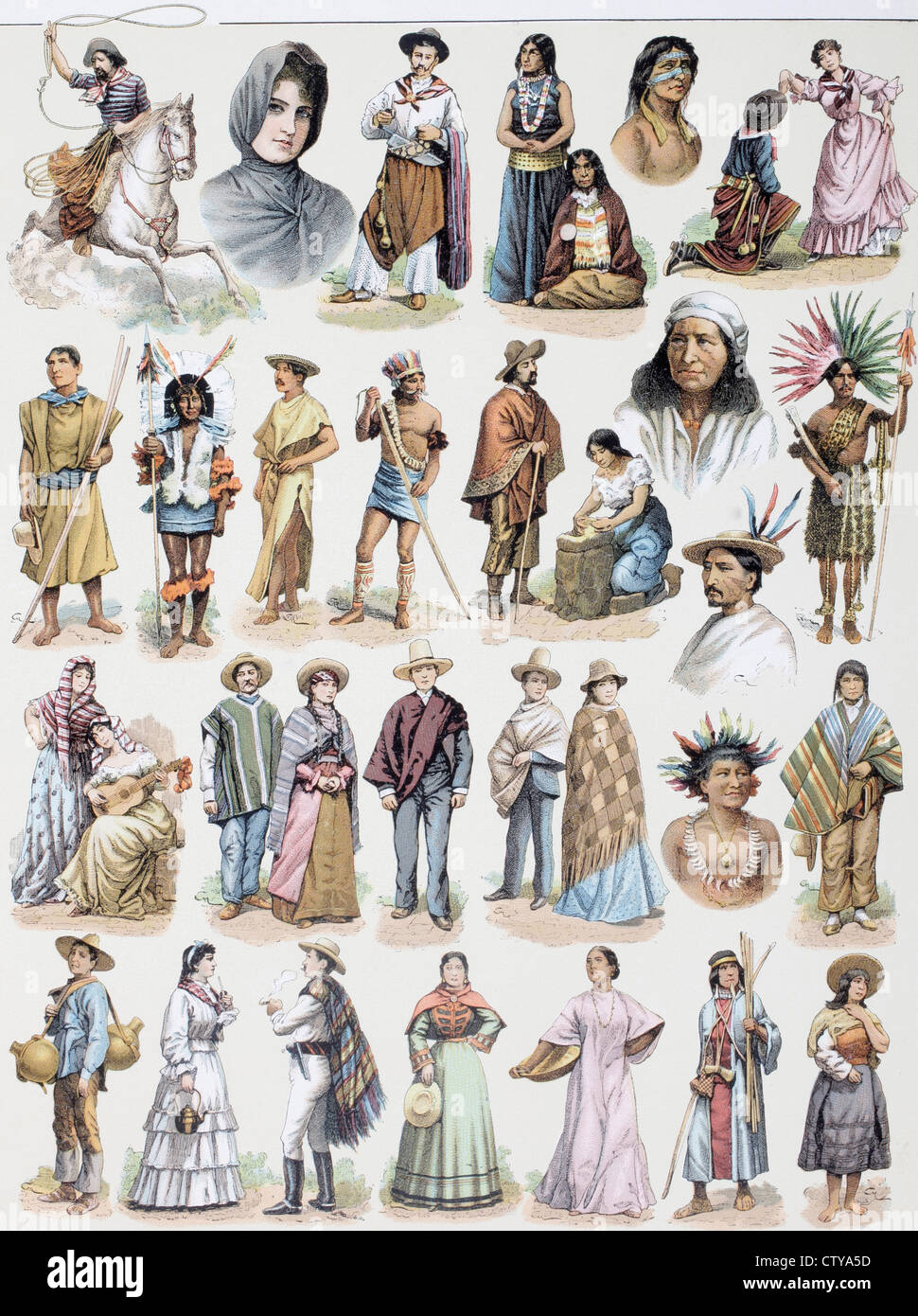 Costumes From All Over The South American Continent At The