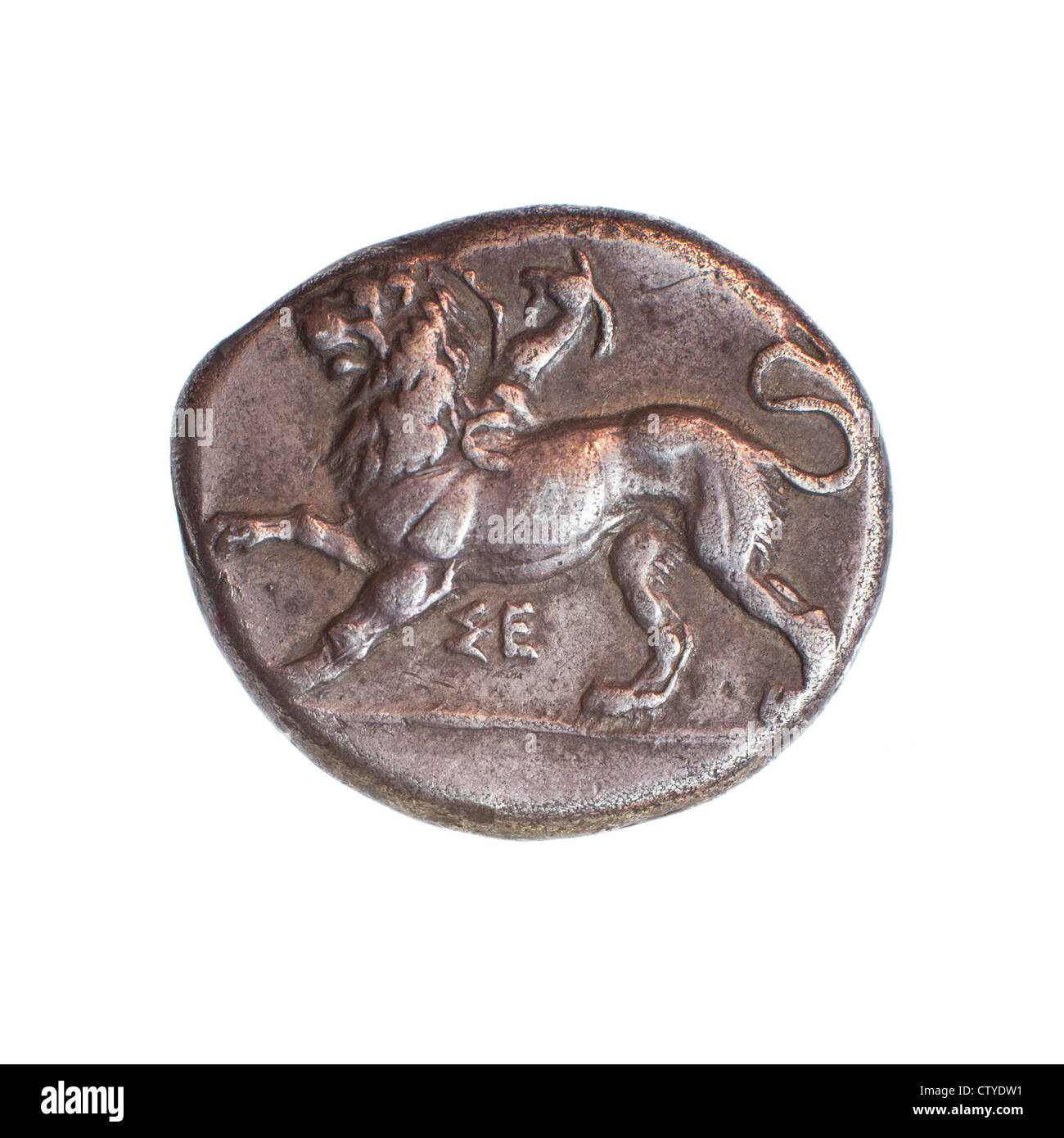 Peloponnesos, Sikyo, 430-390 BCE Silver stater Ancient Greek coin (private collection) - Stock Image