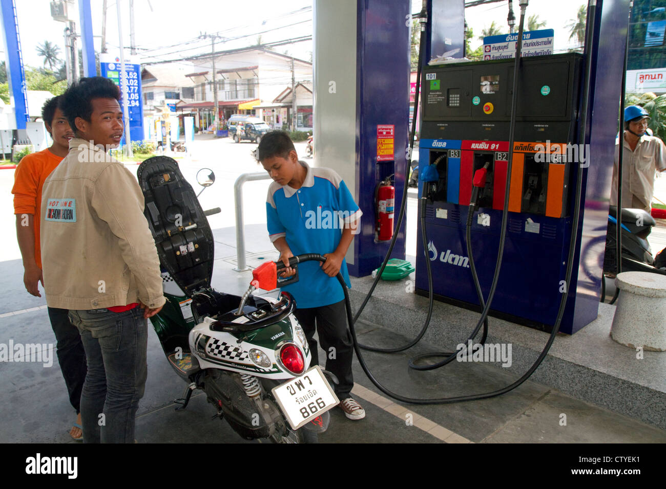 Thailand Gas Station Petrol Stock Photos Amp Thailand Gas