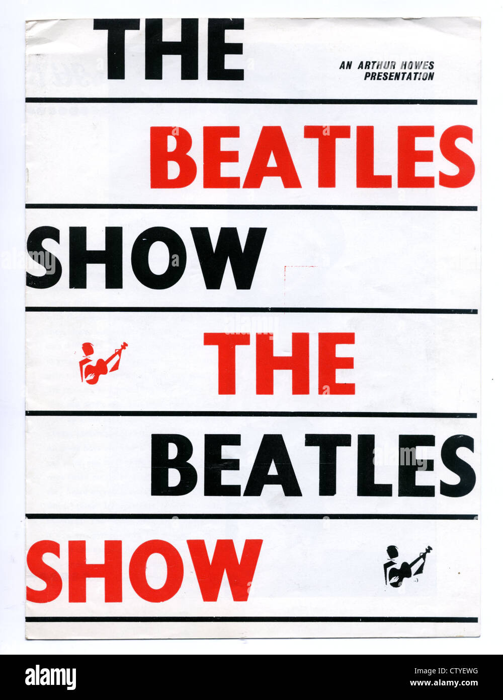 000857 - The Beatles Show Programme from Blackpool on 4th August 1963 - Stock Image