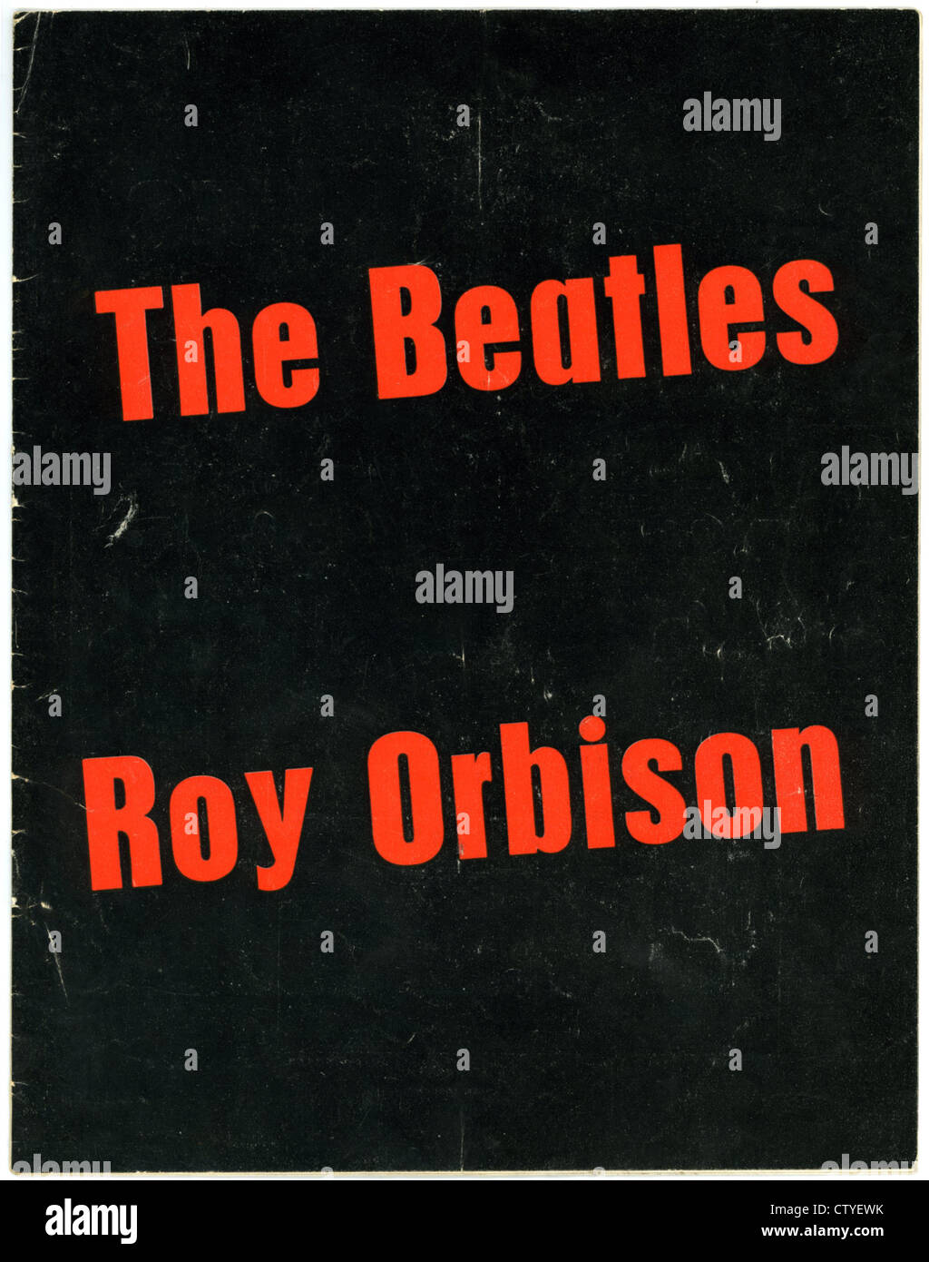 000865 - The Beatles and Roy Orbison Concert Programme from May 1963 - Stock Image