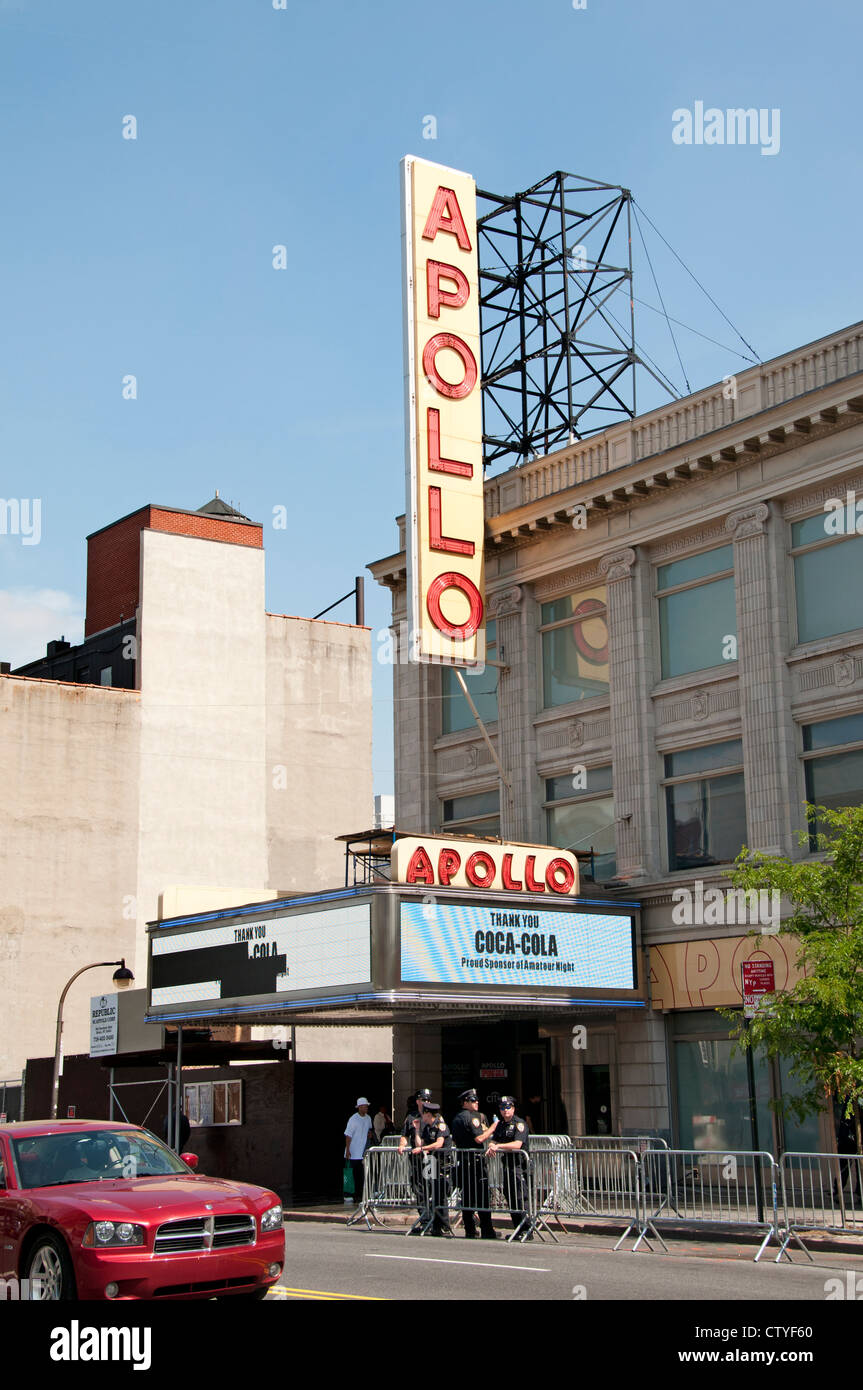Apollo Cinema Theater Dr Martin Luther King JR Boulevard Harlem New York  Manhattan United States - Stock Image