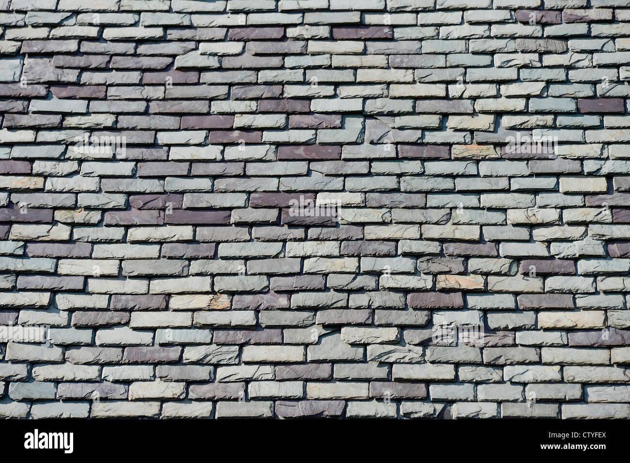 Slate roof detail. - Stock Image