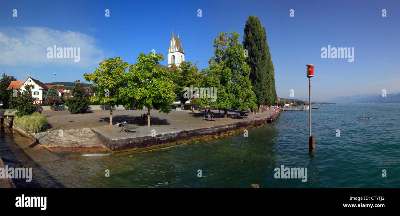 Switzerland, Zurich, Mailen city and Zurich lake. - Stock Image