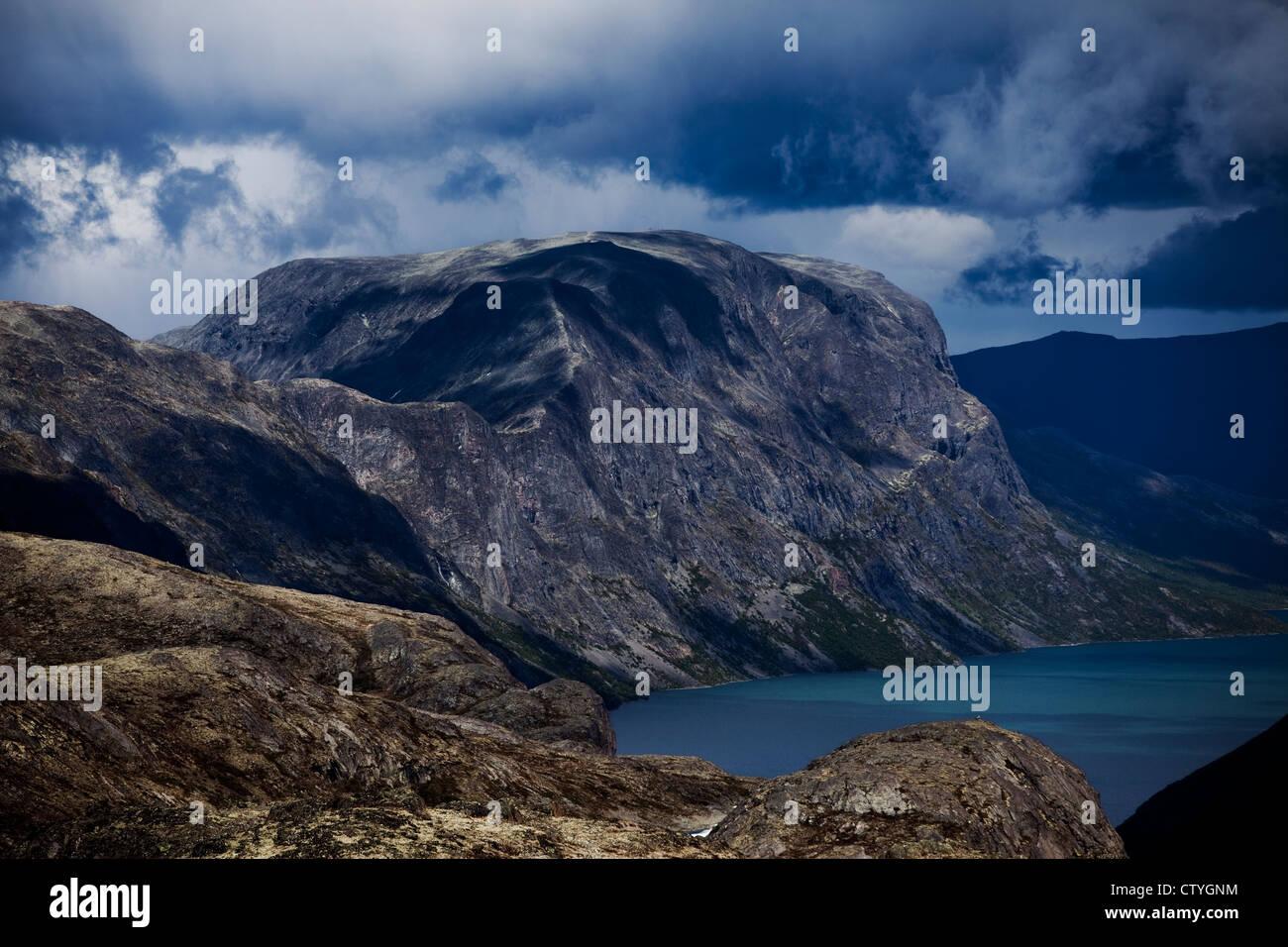 Jotunheimen national park in norway - Besseggen ridge - Stock Image