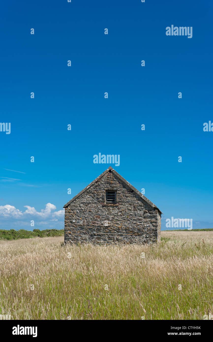 Barn on Caldey Island near Tenby, Pembrokeshire, Wales - Stock Image
