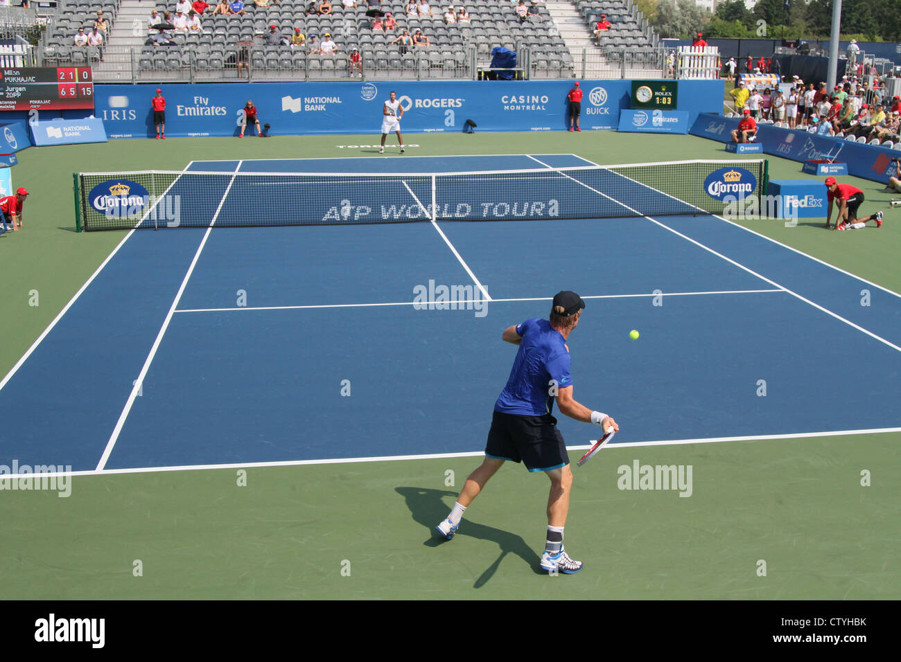 tennis game atp world tour match players Stock Photo