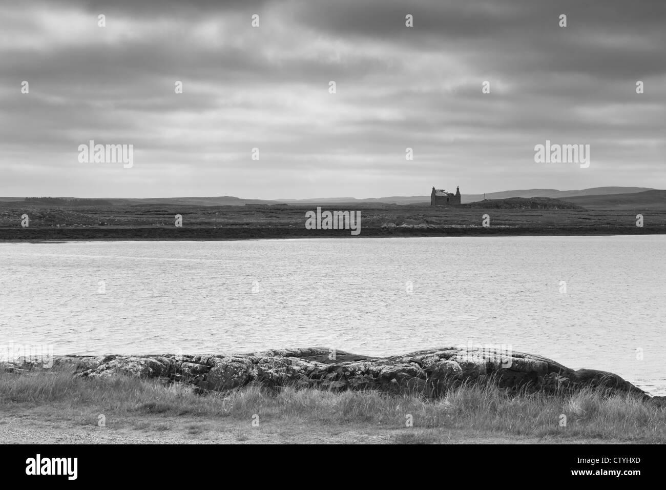 Scottish loch - Callanish (Outer Hebrides) - Stock Image