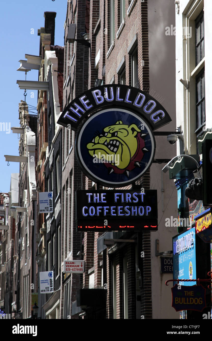 The Bulldog Amsterdam Coffeeshop Redlight Stock Photo
