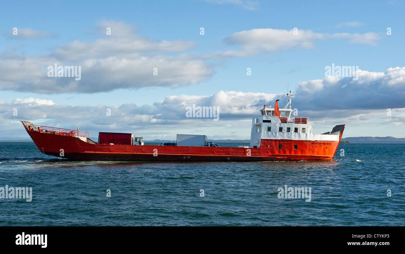 The Spirit of Waiheke sailing to North Stradbroke Island in Queensland - Stock Image