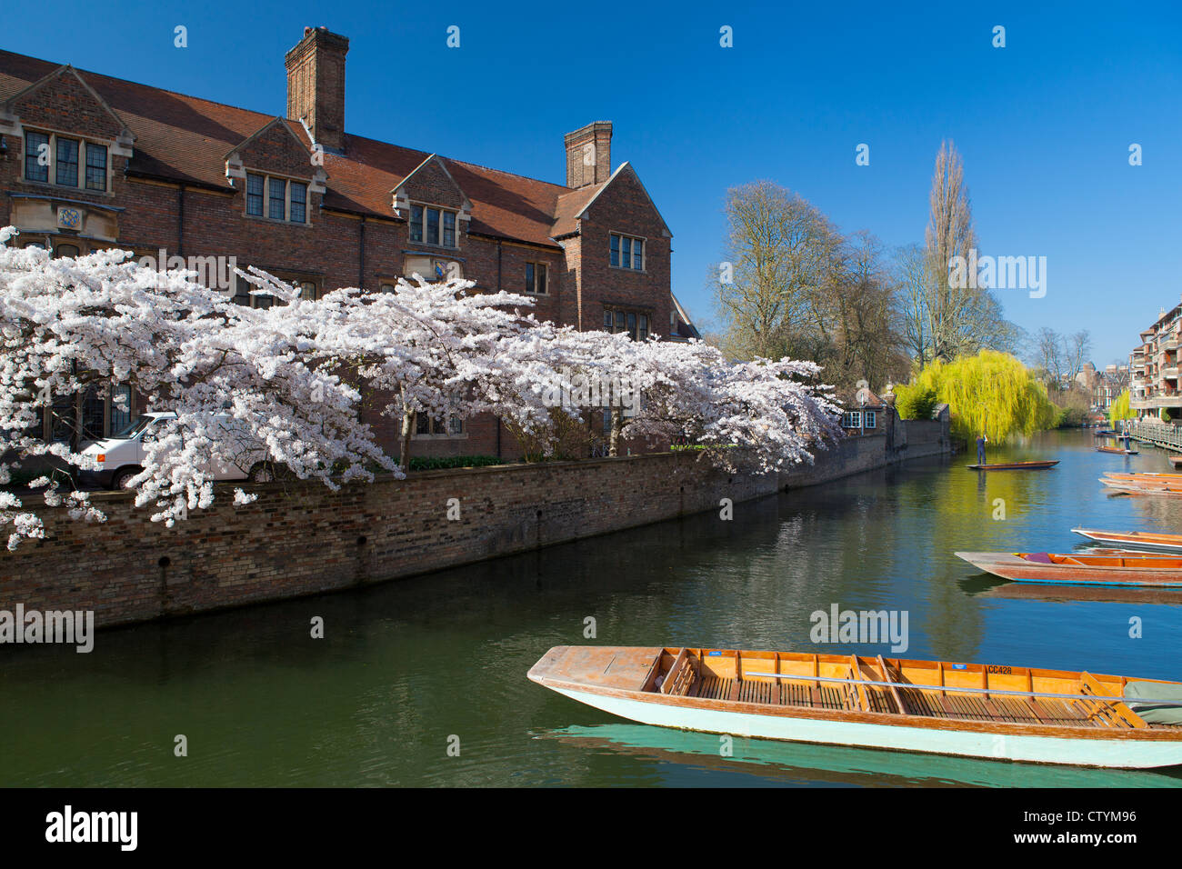 Magdalene College Cambridge and River Cam - Stock Image