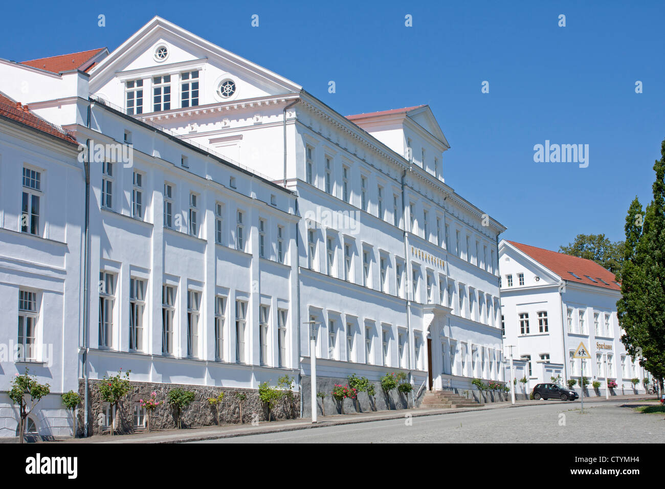 Paedagogium at the Circus, Putbus, Ruegen Island, Baltic Sea Coast, Mecklenburg-West Pomerania, Germany Stock Photo