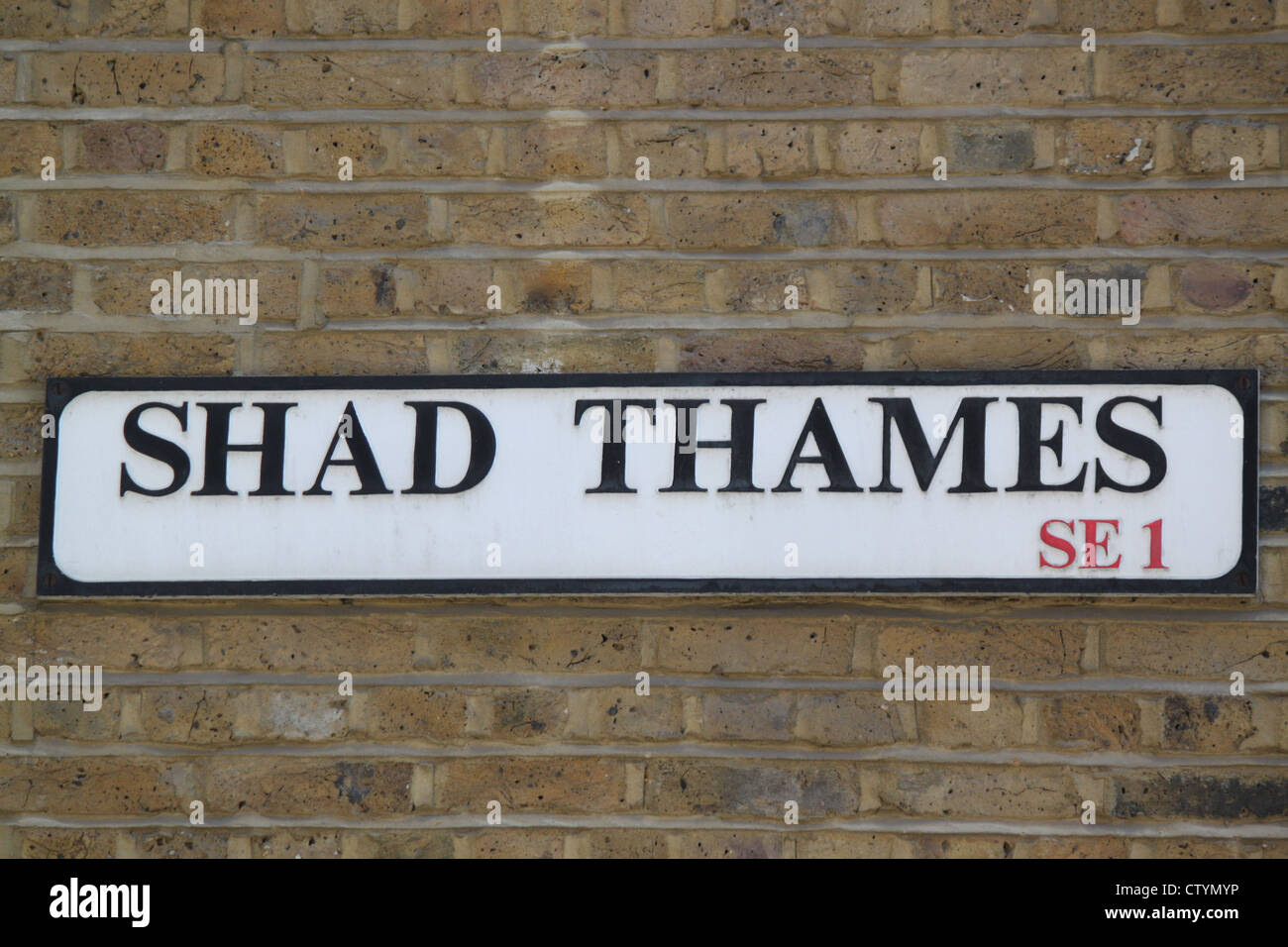 Street sign for Shad Thames London - Stock Image