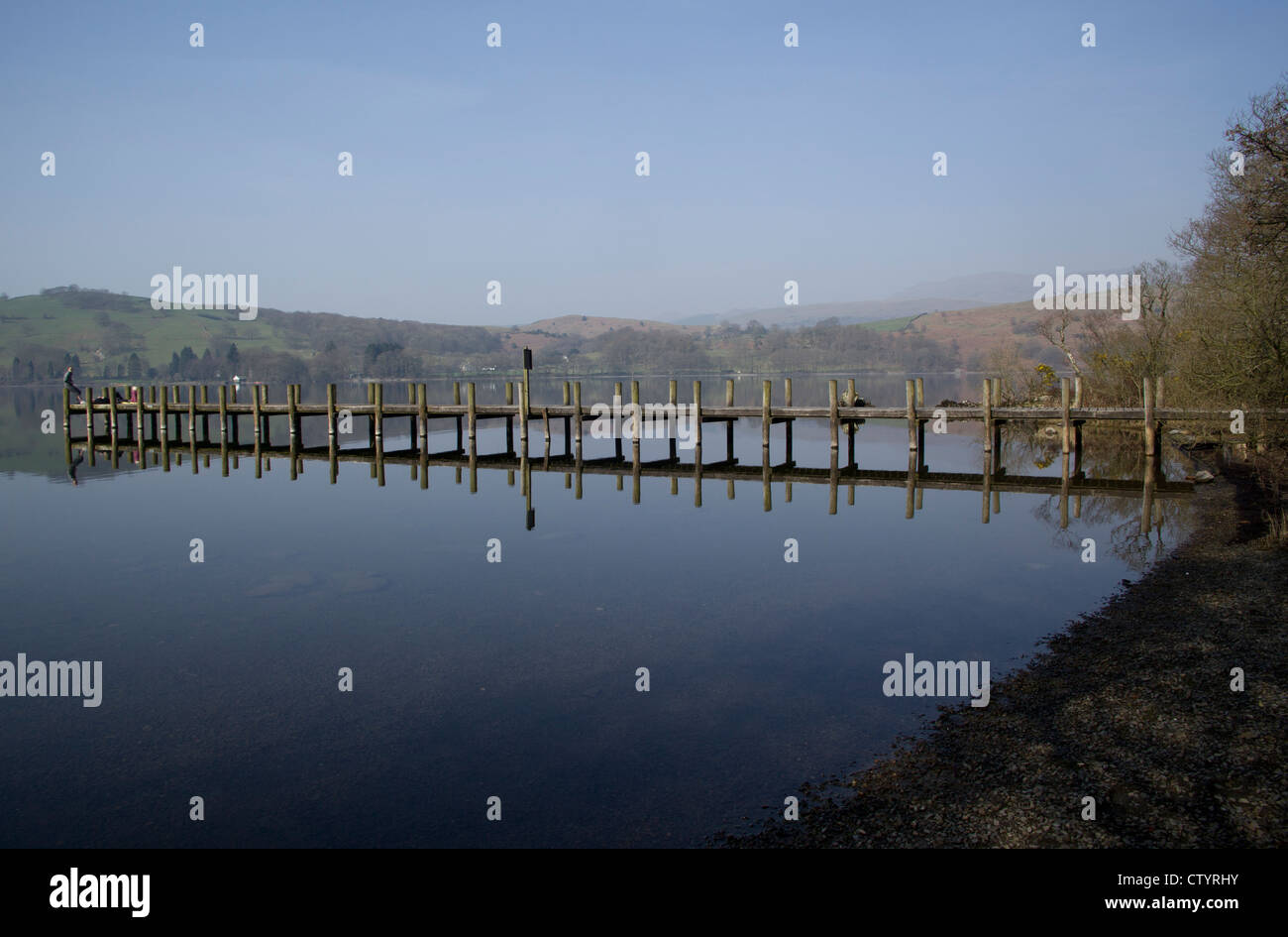 Lake Coniston, English Lake District, Cumbria, from near John Ruskin's Brantwood House,  England. Sunday 25th - Stock Image