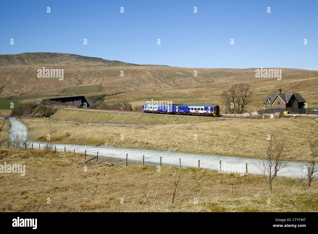 Northern Rail class 158, Ribblehead, North Yorkshire. Monday 26th March 2012. - Stock Image