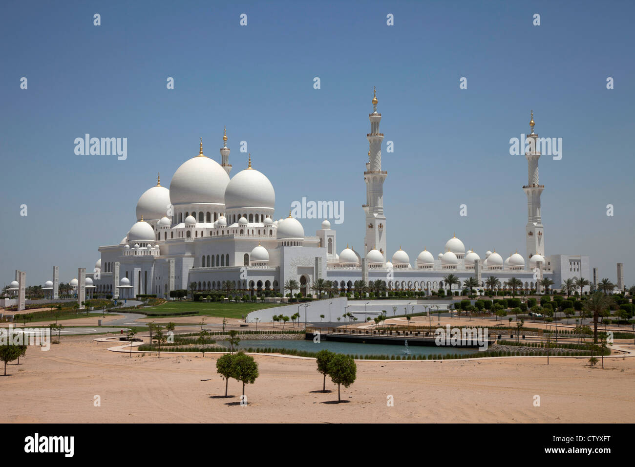 Grand Mosque with domes and towers - Stock Image
