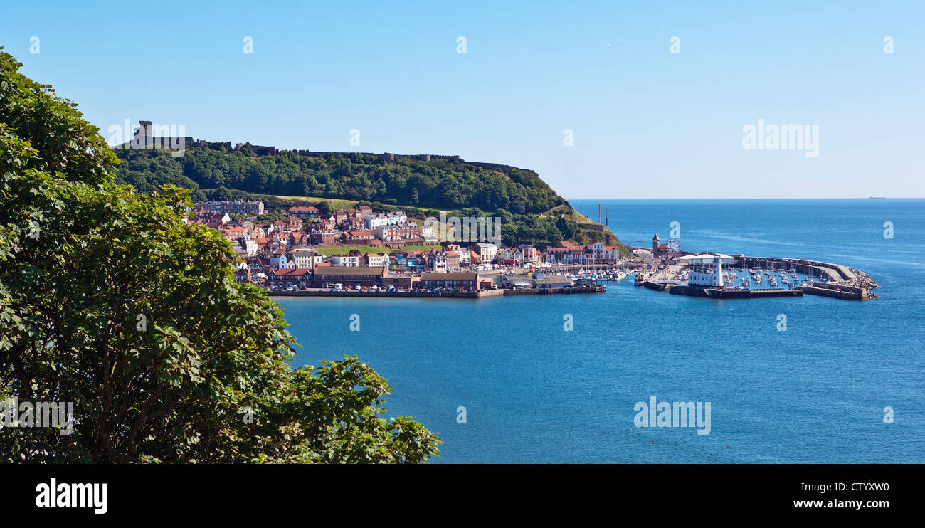 Scarborough South Bay, Castle and harbours - Stock Image