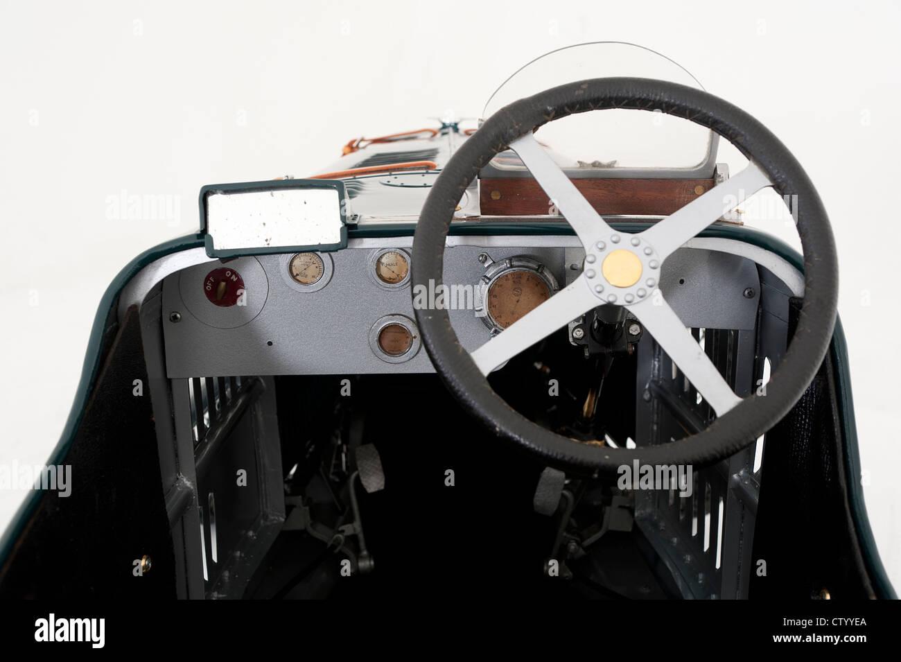 Cockpit of Sunbeam Cub motorised pedal car - Stock Image