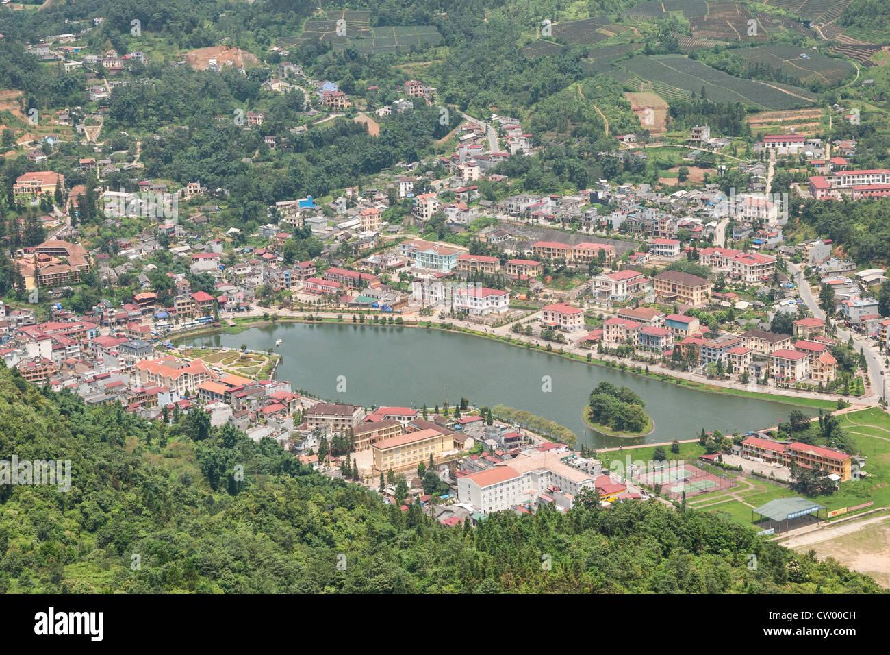 Sapa Town View - Stock Image