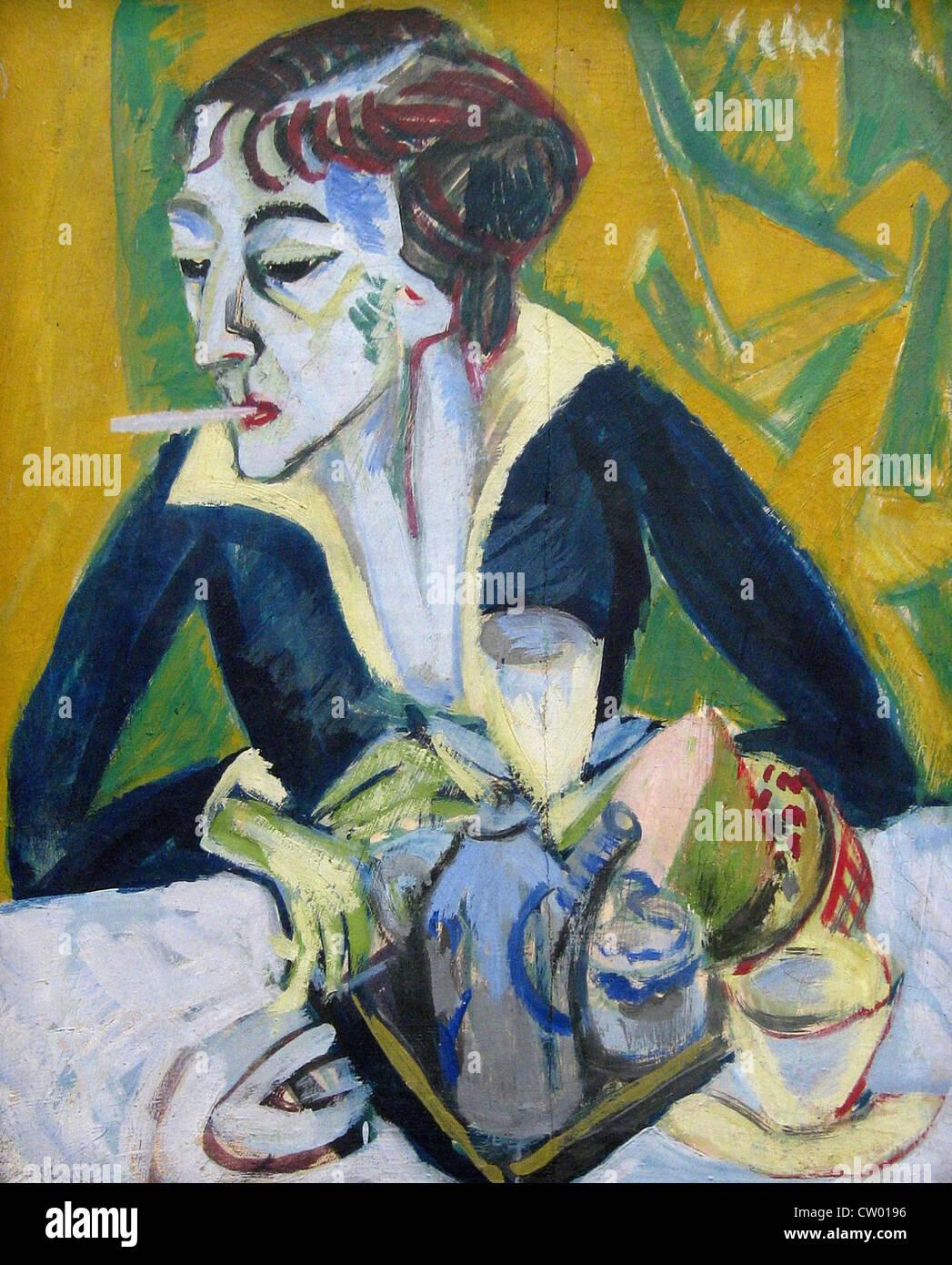 Ernst Ludwig Kirchner Erna 1930 Pinakothek der Moderne Art - Stock Image