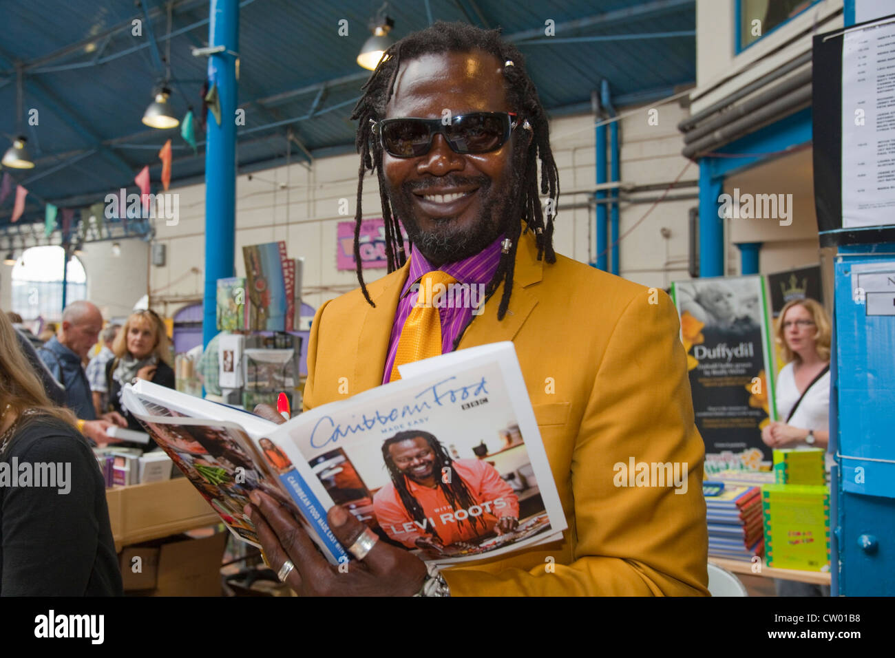 TV chef Levi Roots at Abergavenny Food festival, Monmouthshire, Wales, UK - Stock Image