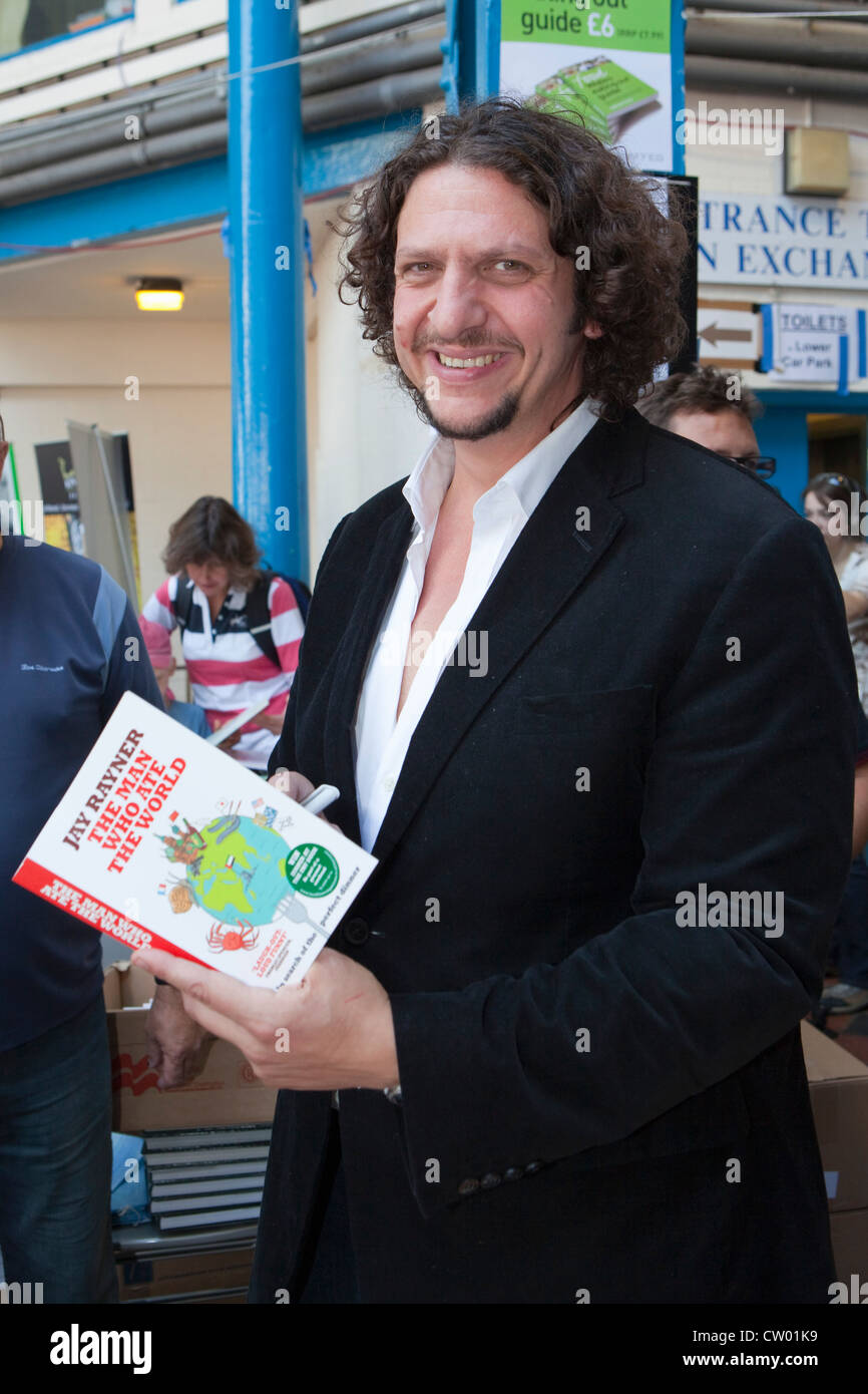 Jay Rayner, restaurant critic and food writer at Abergavenny Food festival, Monmouthshire, Wales, UK - Stock Image