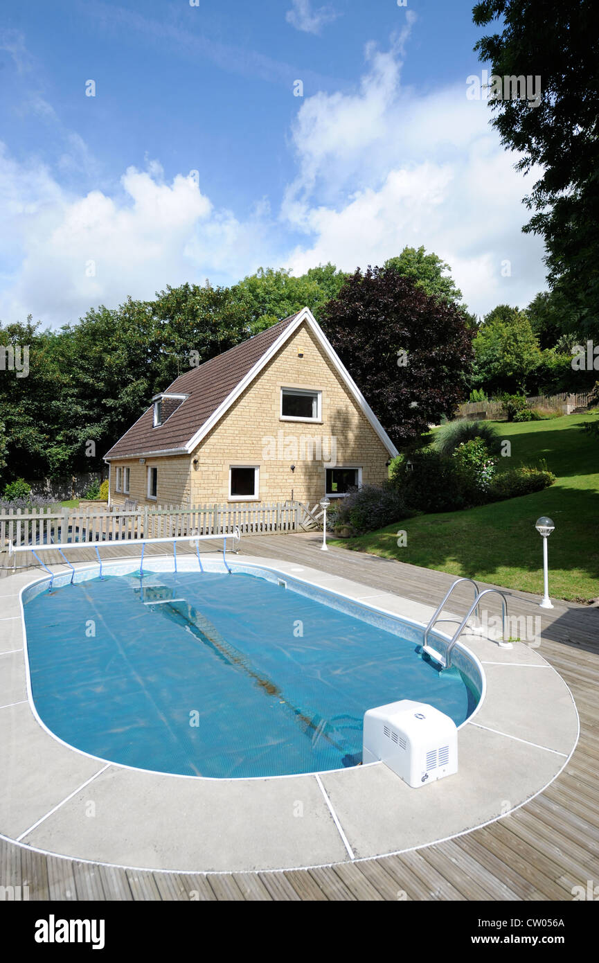 Swimming pool at a detached house in Bath, Somerset which is ...