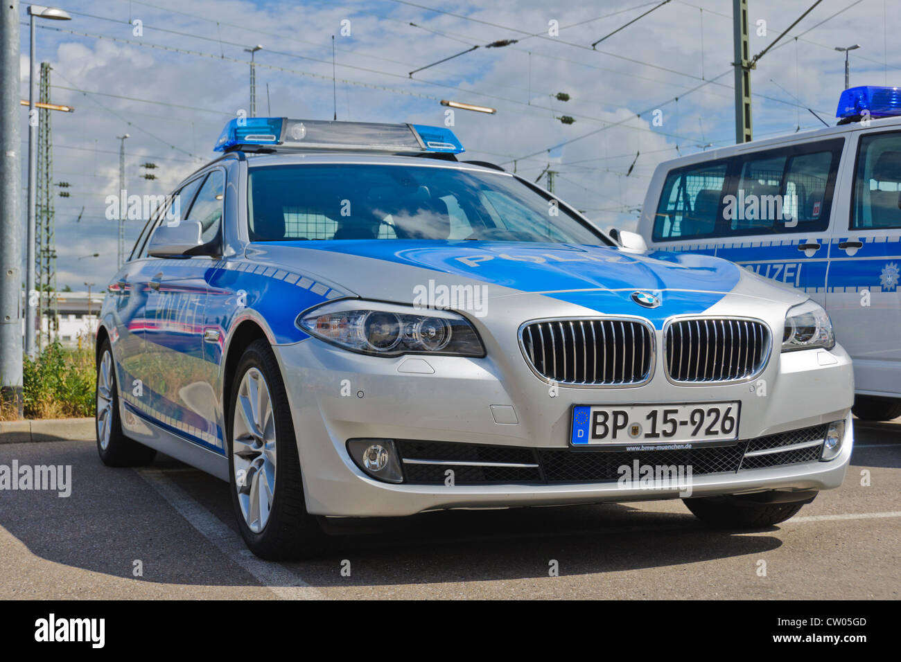 Great BMW And VW Volkswagen Police Patrol Cars Of The German Federal Police  (Bundespolizei)   Heilbronn Germany