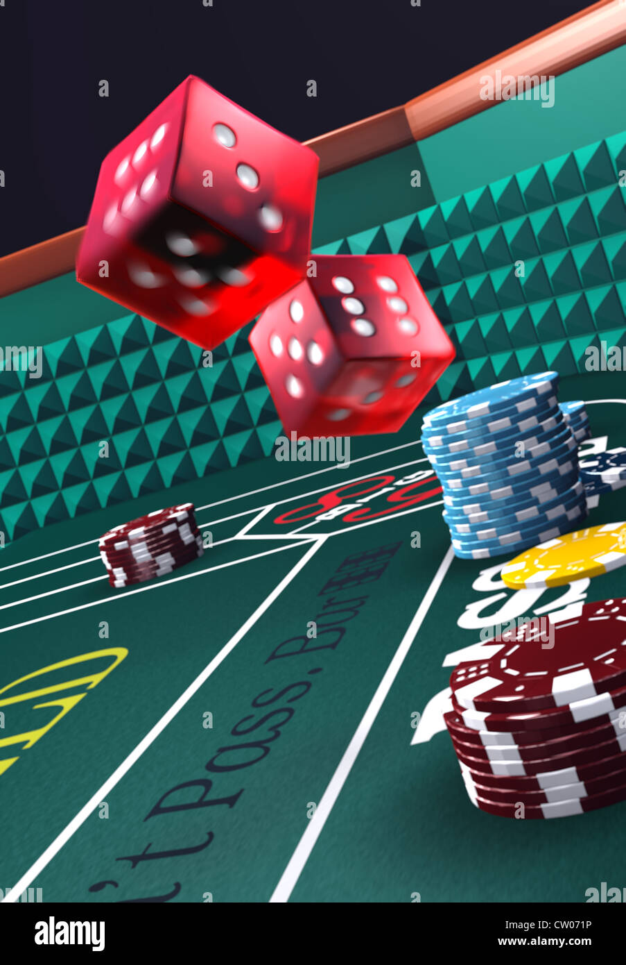 Casino craps table - Stock Image
