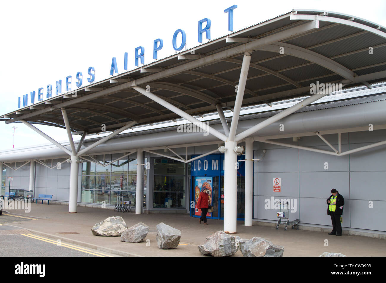 Inverness Airport Stock Photo