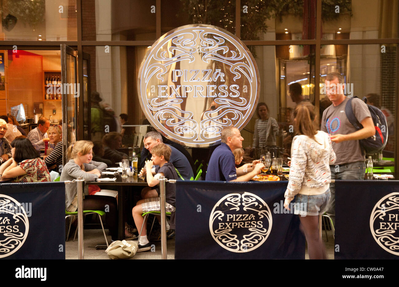 People Eating Pizza Express Restaurant Stock Photos People