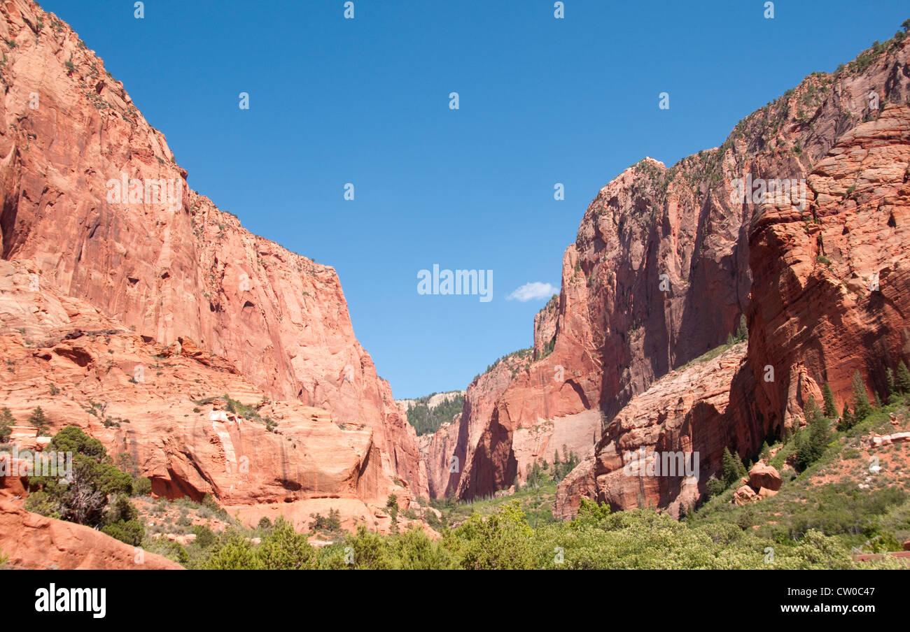 USA Utah, scenery at Kolob Canyons in Zion National Park. - Stock Image