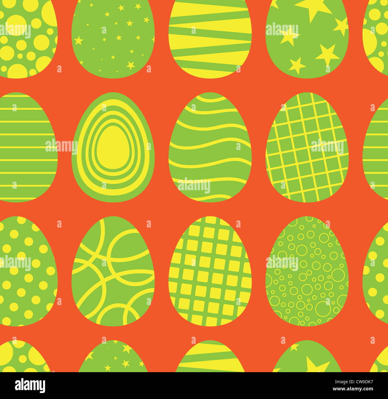 Background of seamless easter egg pattern. - Stock Image