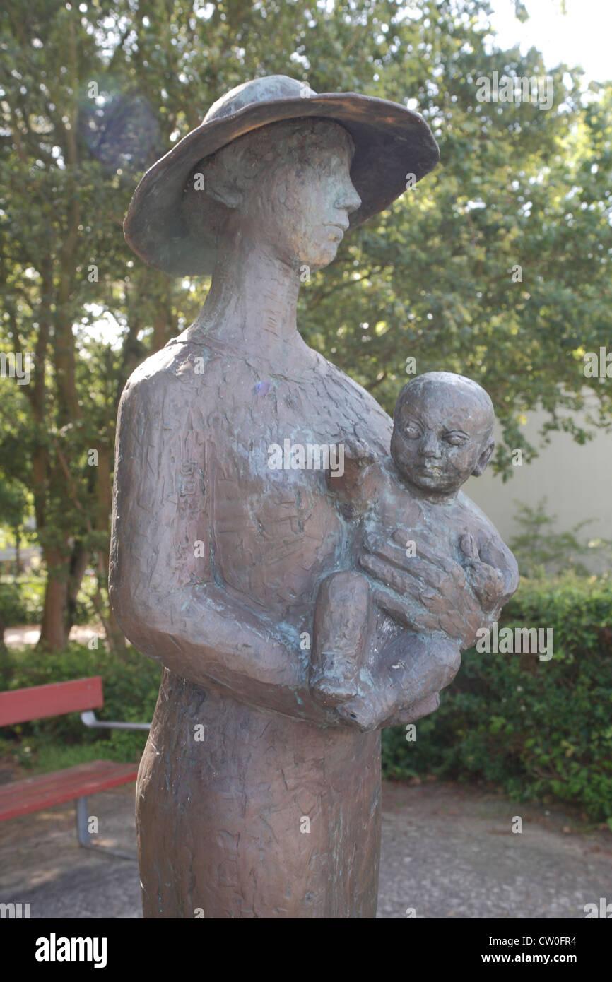 Denmark Sjaelland Kalundborg, Sigrid Undset statue - Stock Image
