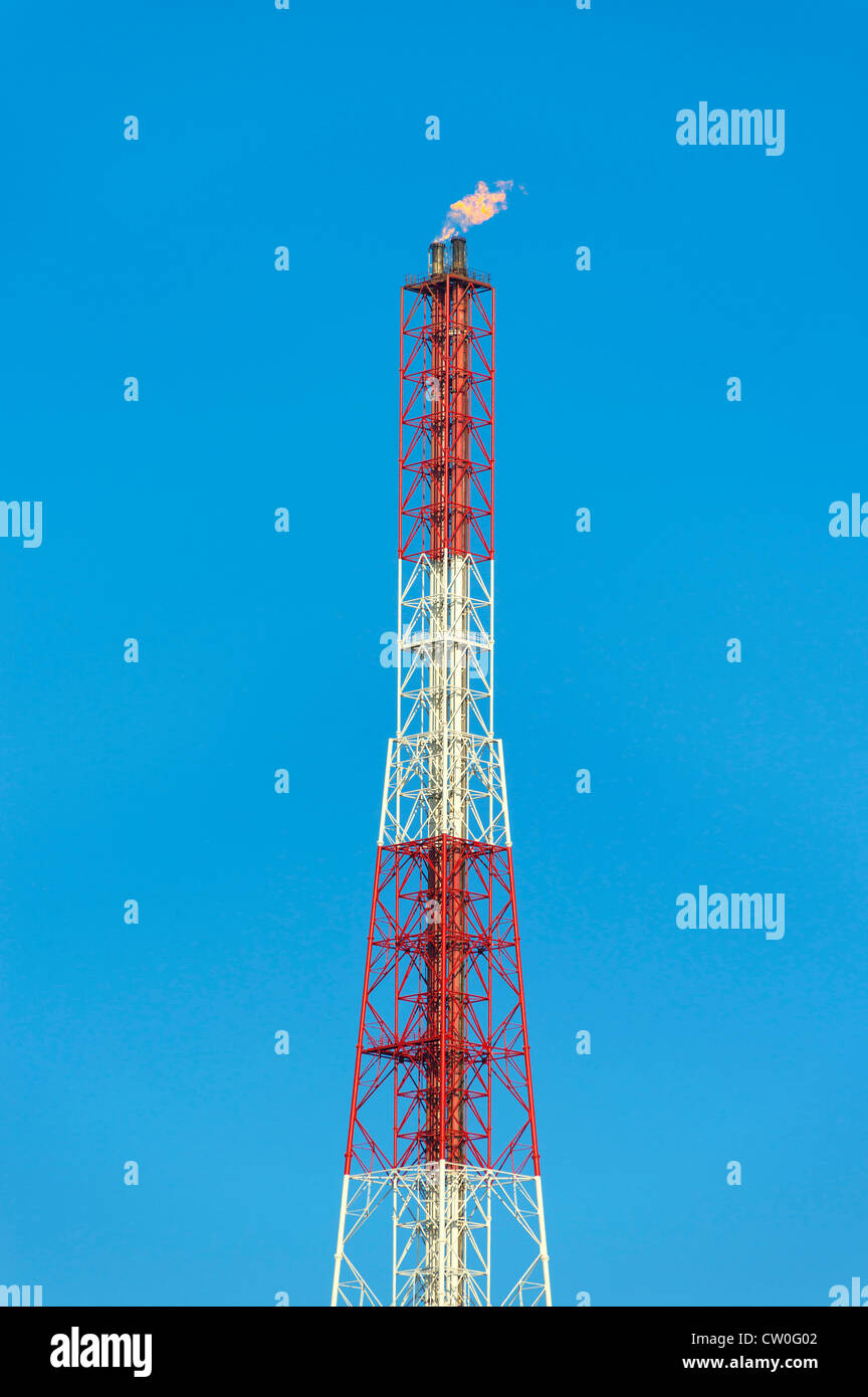 Tower of chemical plant - Stock Image