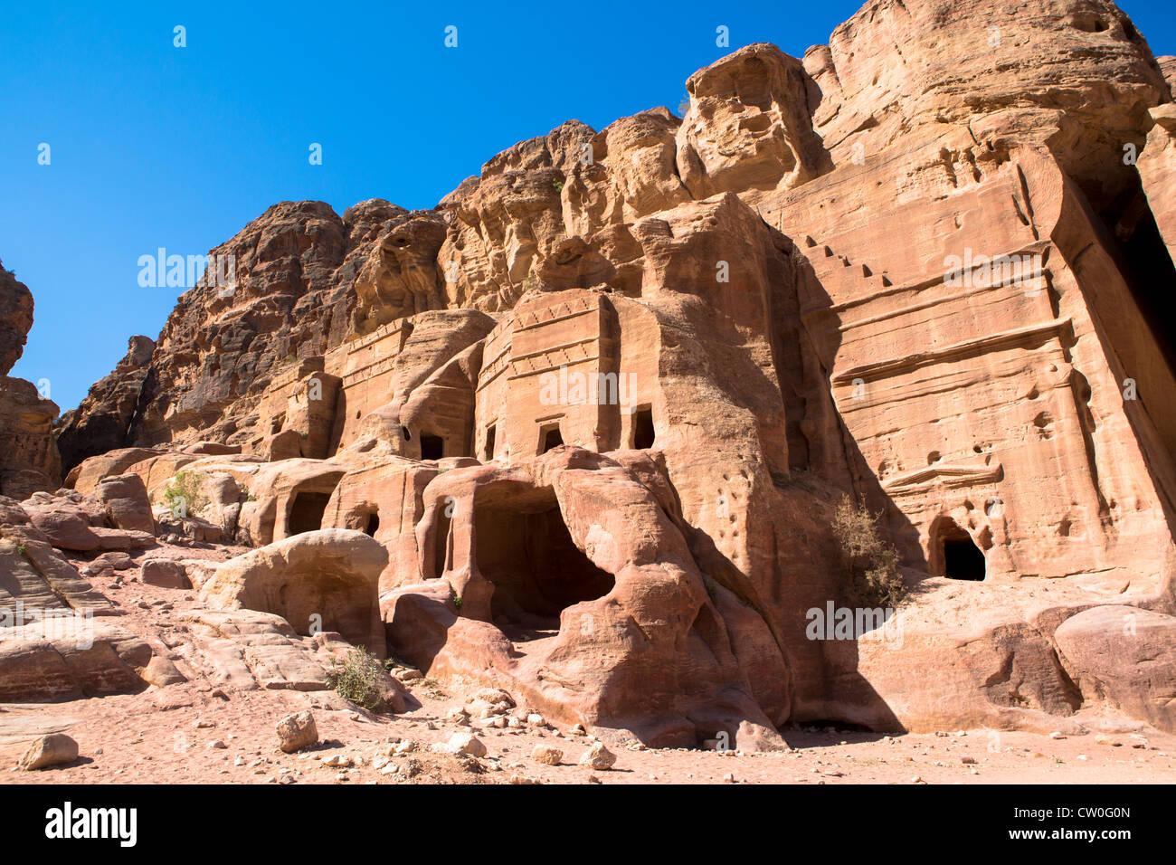 Ancient ruined city of Petra Jordan - Stock Image