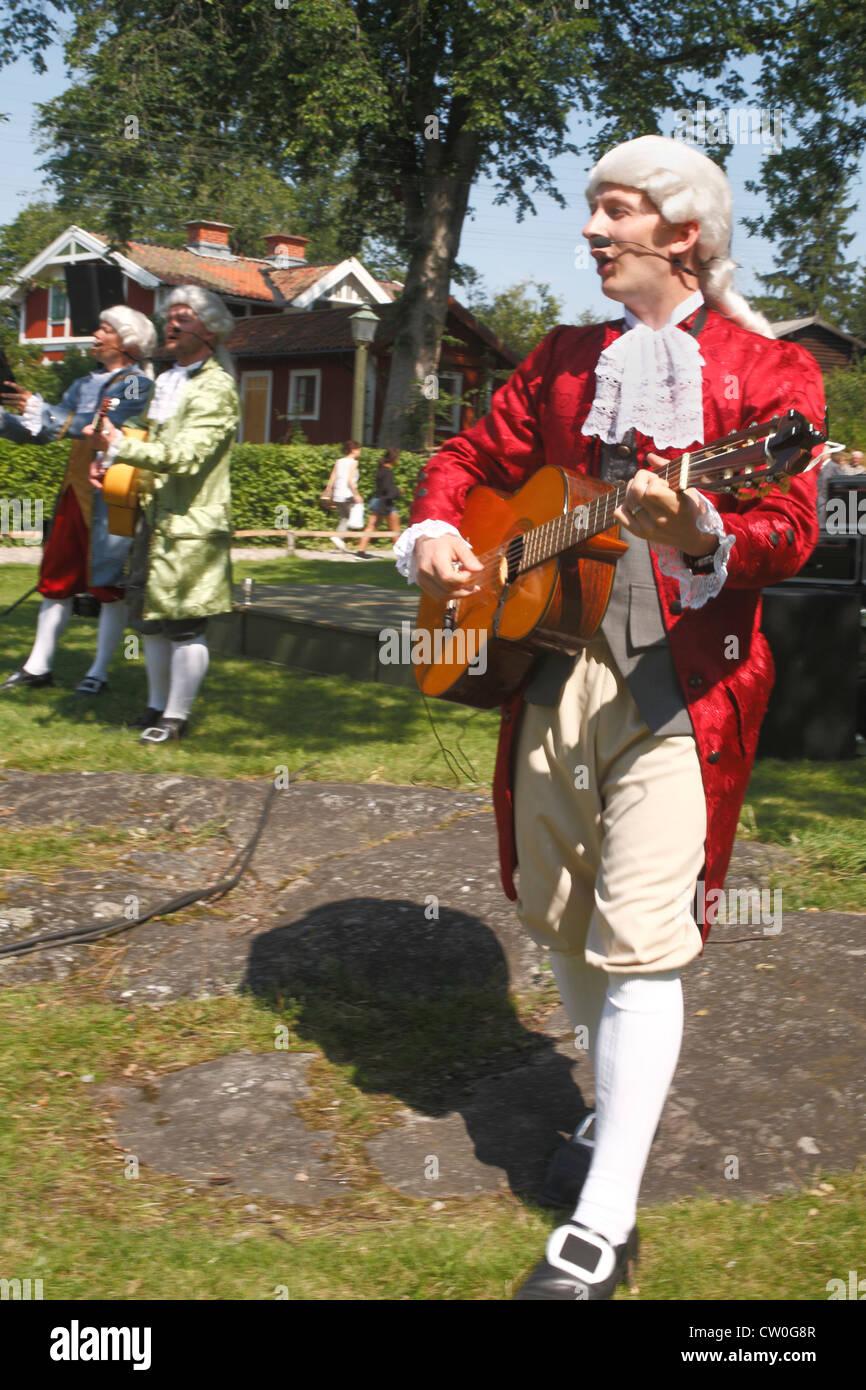 Sweden Stockholm Skansen, old time singers - Stock Image