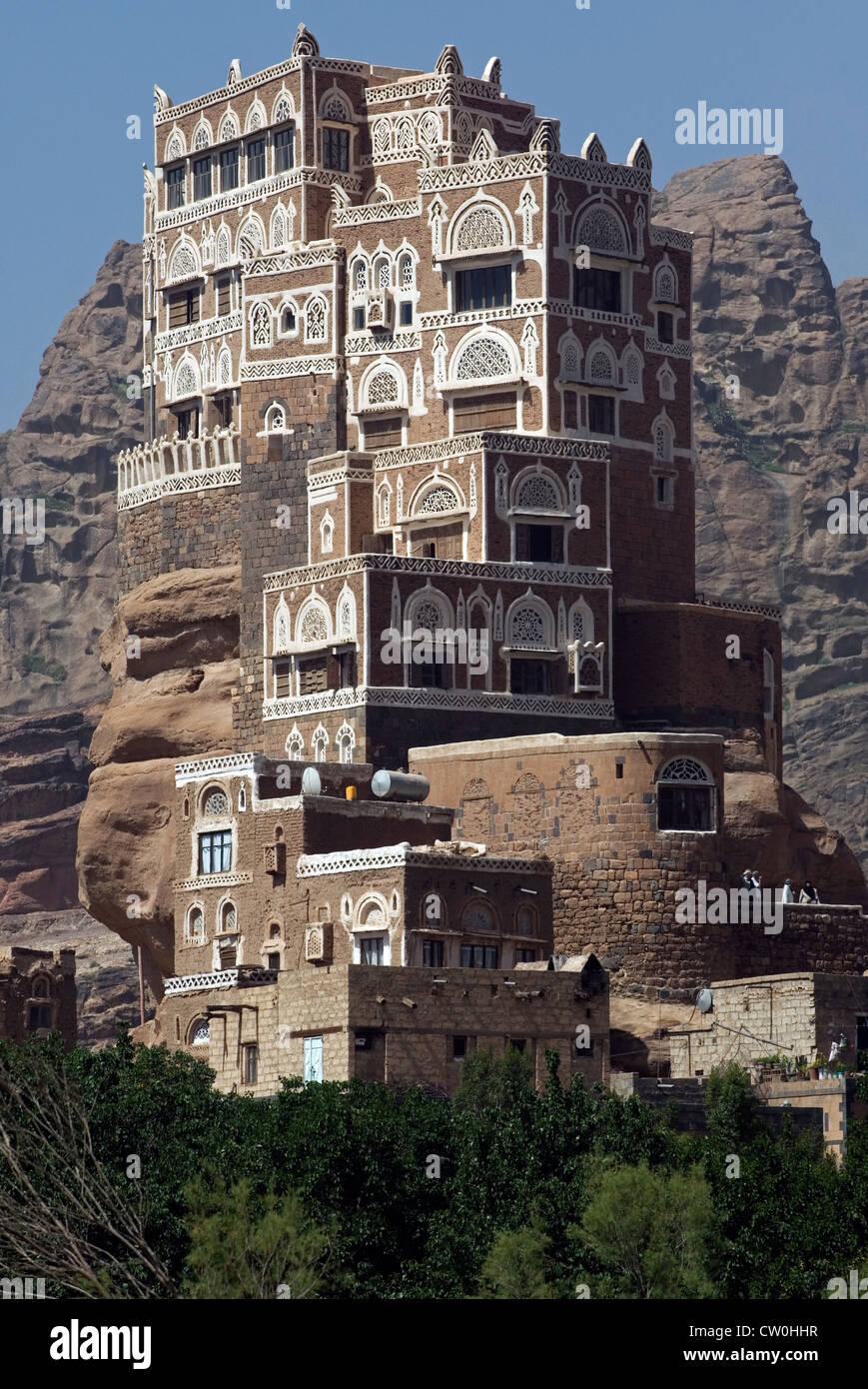 Dar Al Hajar The Rock Palace In Wadi Dhahr Yemen Western