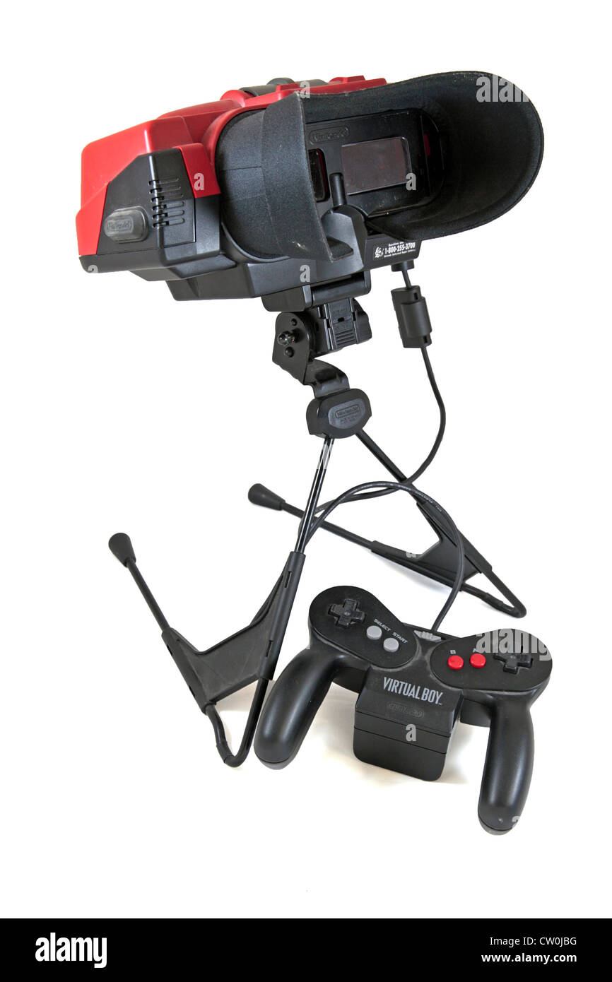 The Virtual Boy table-top video game console by Nintendo, first launched in Japan in 1995, (it did not launch in - Stock Image