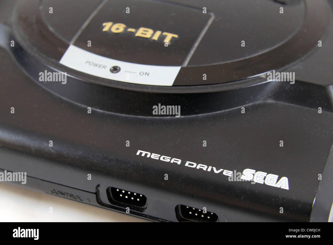 The SEGA Megadrive, a fourth-generation video game console by SEGA, (1990).  Called the SEGA Genesis in North America. Stock Photo