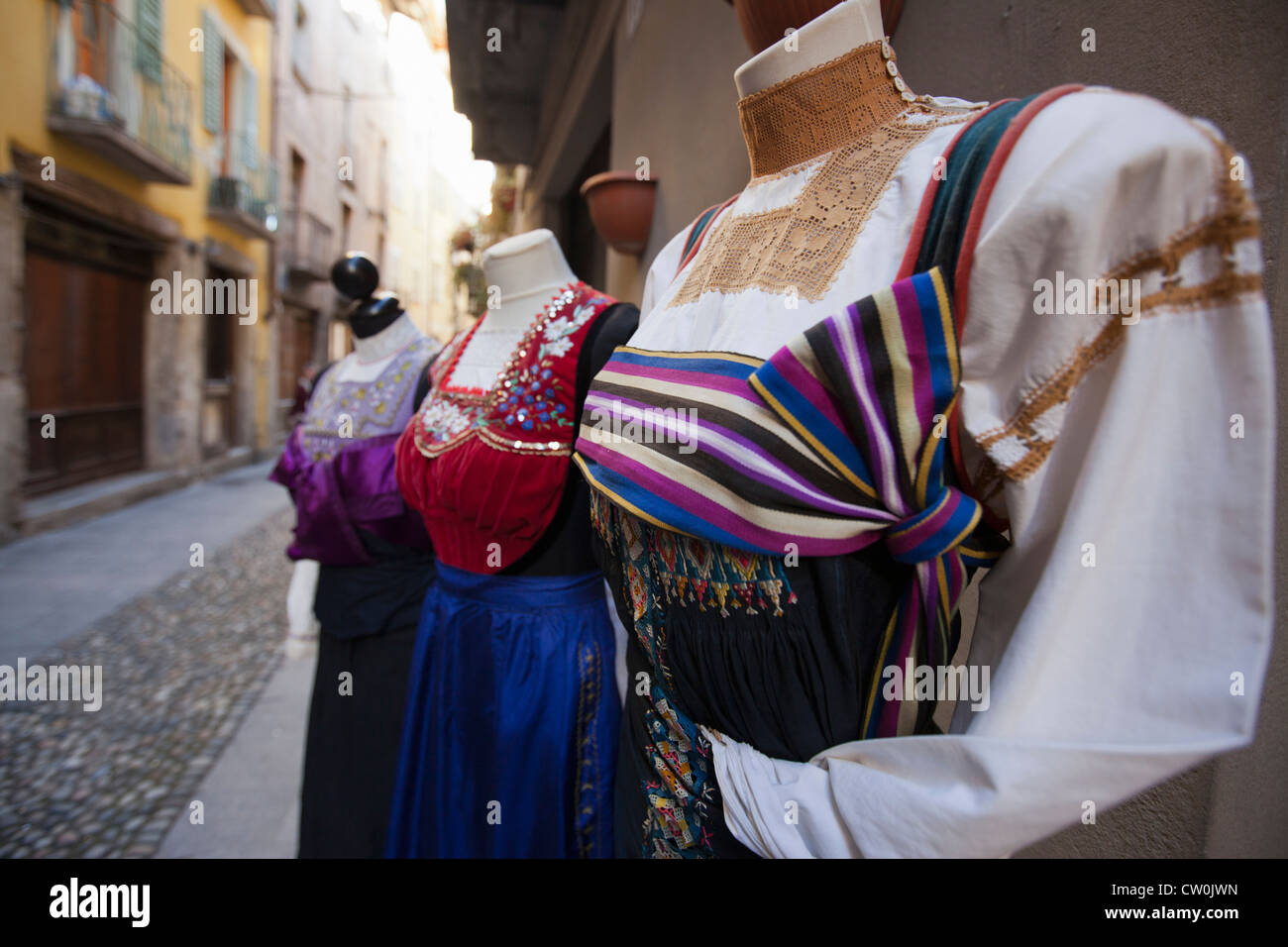 Mannequins in traditional dresses - Stock Image