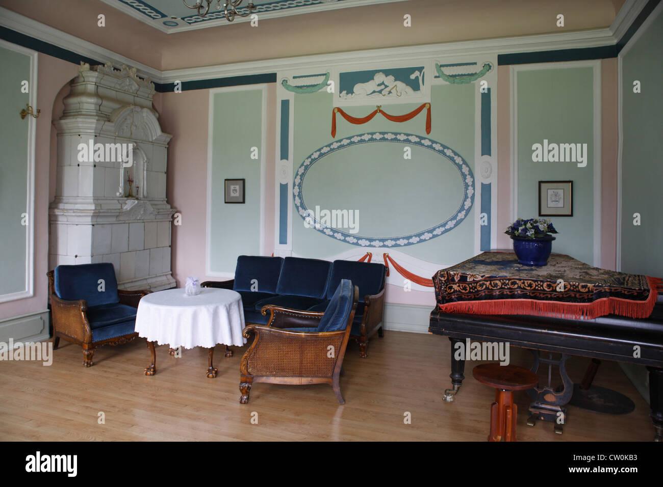 Estonia Tallinn, Sauer manor, drawing room - Stock Image