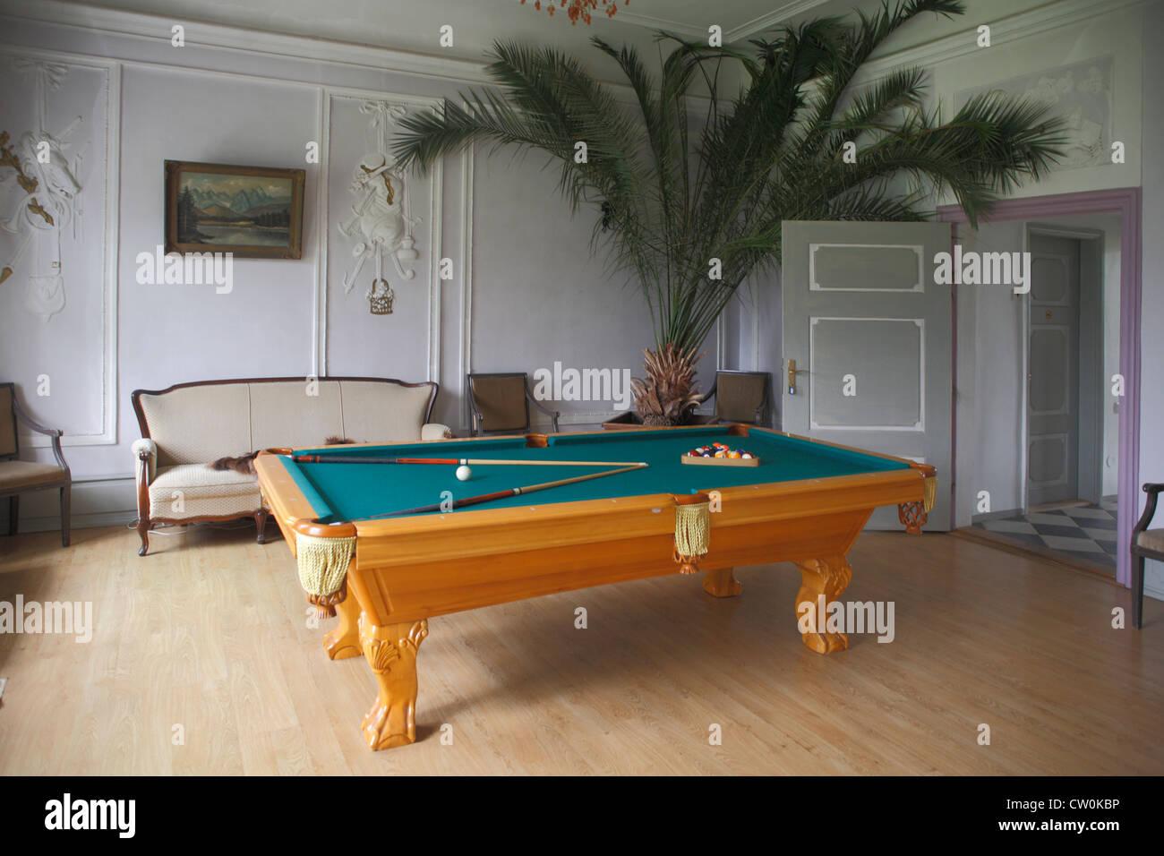 Estonia Tallinn, Sauer manor, billiards room - Stock Image