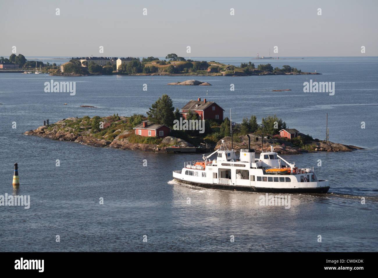 Finland Helsinki, Suomenlinna ferry - Stock Image
