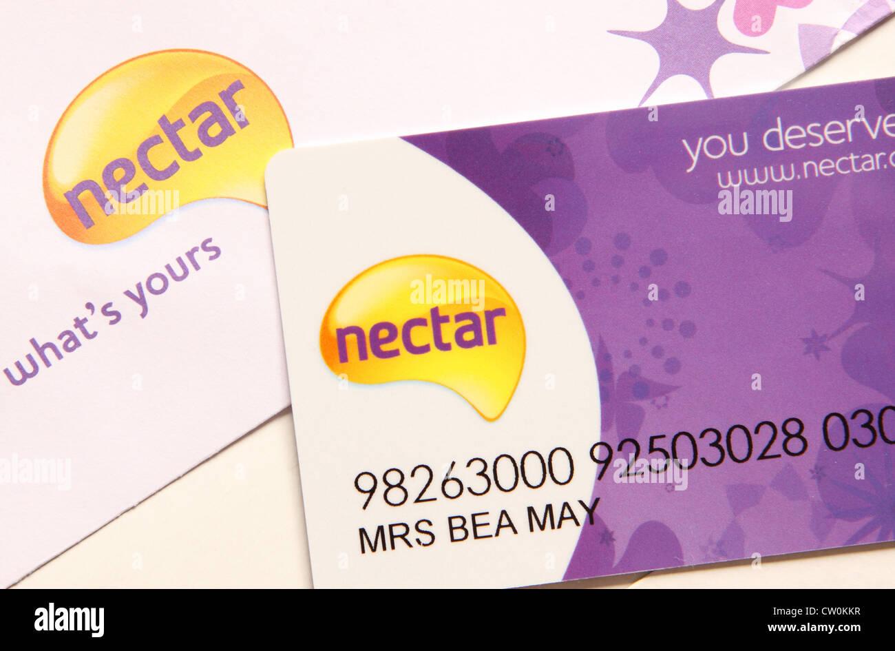 Nectar reward points card - Stock Image