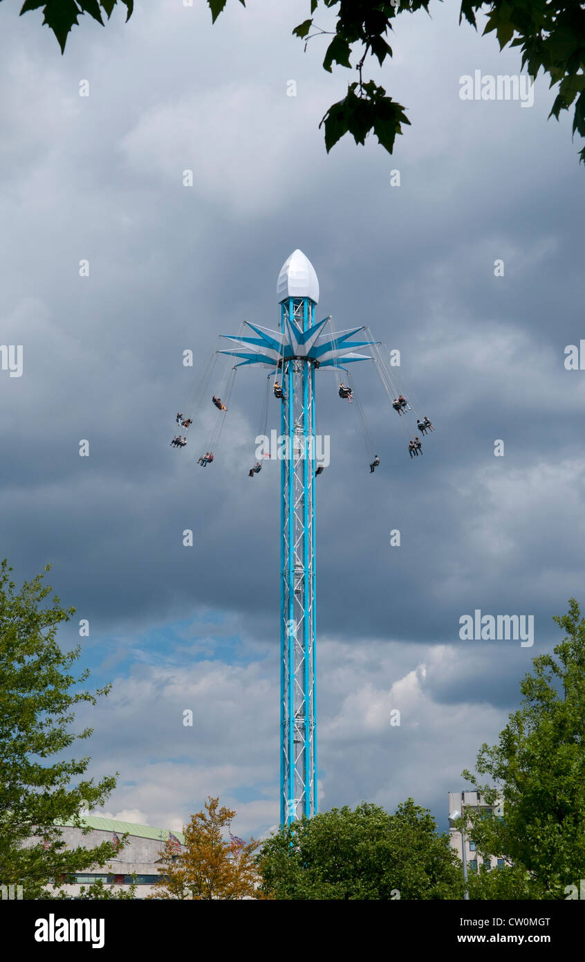 Star Flyer fun ride at the Priceless London Wonderground on the South Bank in London - Stock Image
