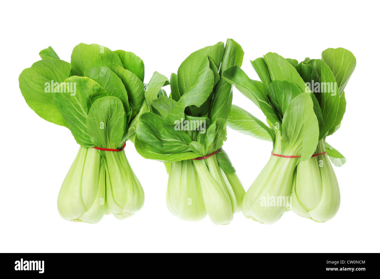 Bunches of Bok Choy - Stock Image