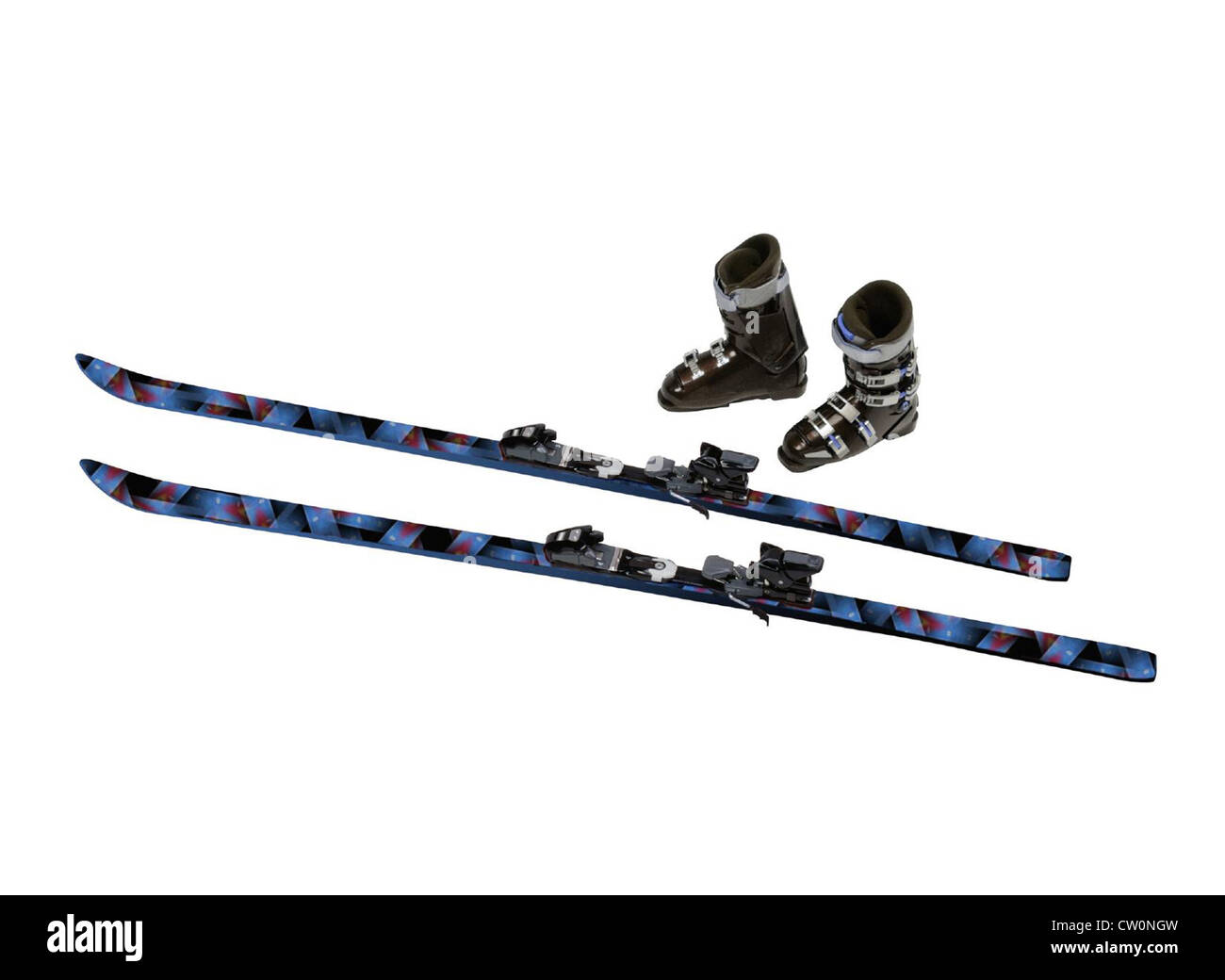 Ski tips - Stock Image
