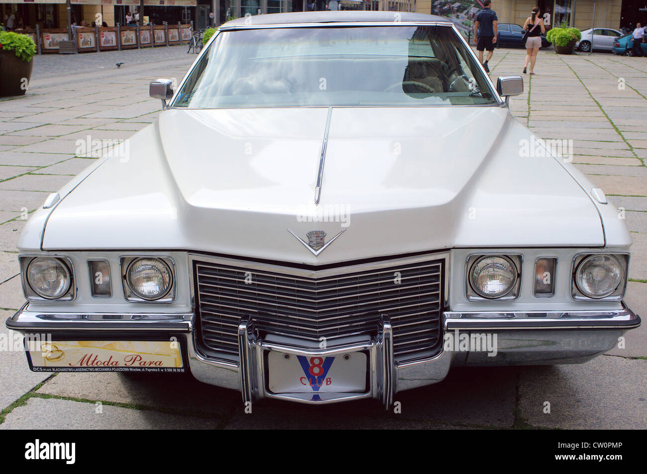 White Cadillac Stock Photos Images Alamy 50s V8 Engine Deville From 1972 Image